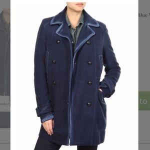 DIESEL w-Fuji navy wool winter coat $795 S M XS